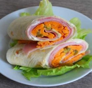 ham and cheddar wraps